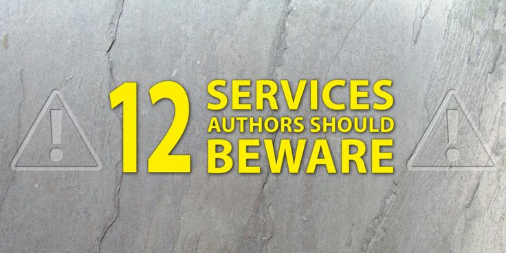 12 Self-Publishing Services Authors Should Beware when choosing who to work with.