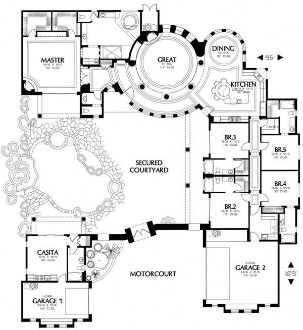 49 best images about tuscan house plans on pinterest for Tuscan style house plans with courtyard