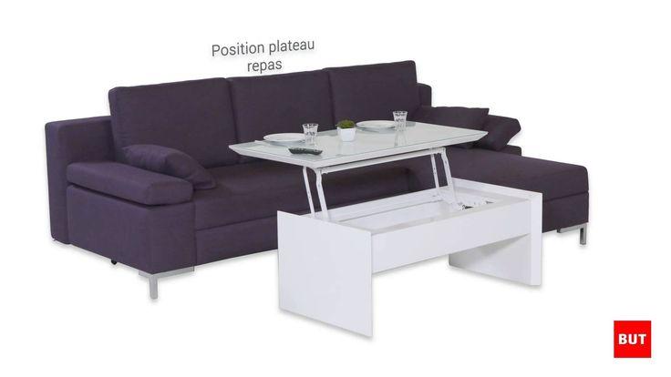 magnifique  table basse escamotable