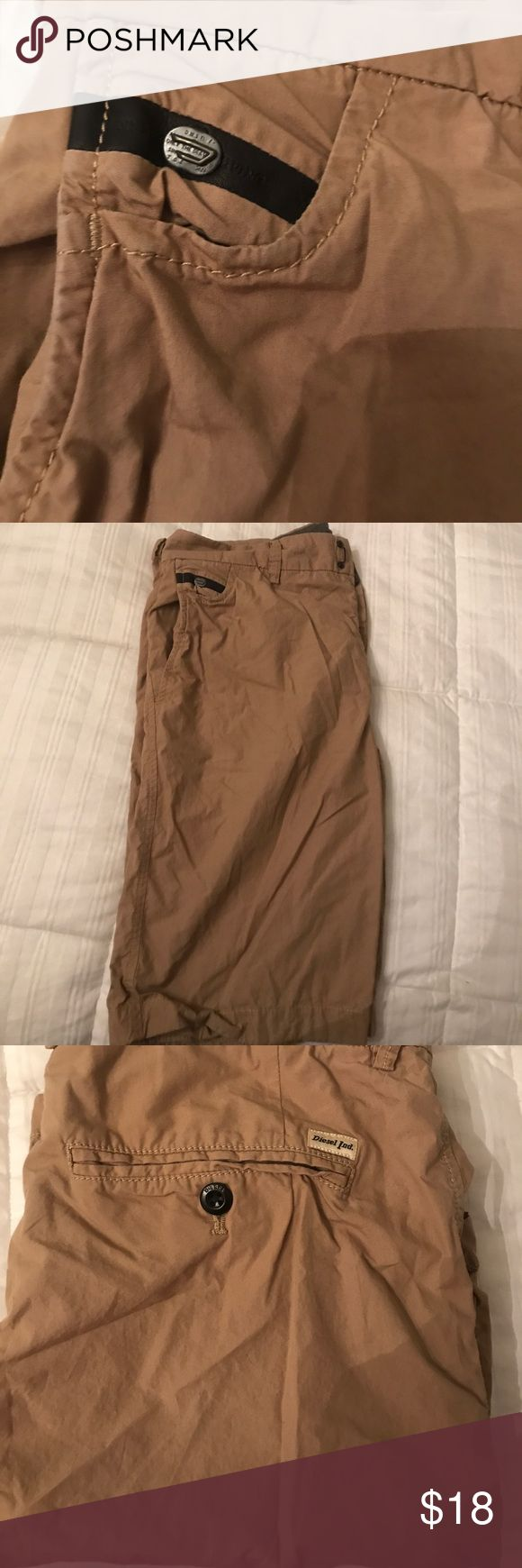 Men's Diesel shorts These are khaki color man's diesel shorts size 32 great condition just like Diesel Shorts Flat Front