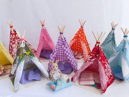 Sylvanian families mini teepee ~ Indian houses for my modern Indian kids! YAY!
