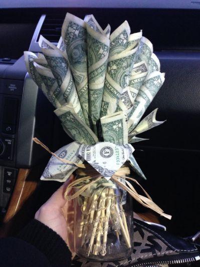 Smart money bouquet idea!! | Money