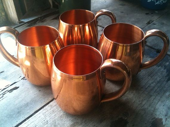 West Bend, WI Vintage Copper Mugs - Perfect for summertime cocktail hour in the backyard on a Saturday evening...Moscow Mules all around!