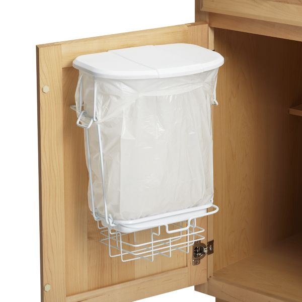 under cabinet wastebasket kitchen 3 gal trashrac trash basket with lid recycling shops 6519