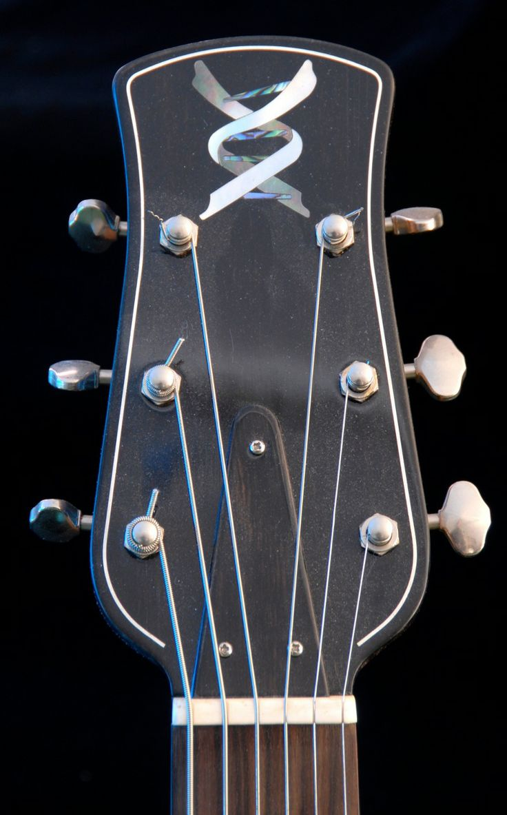 Musical DNA inlay in abalone and mother of pearl.
