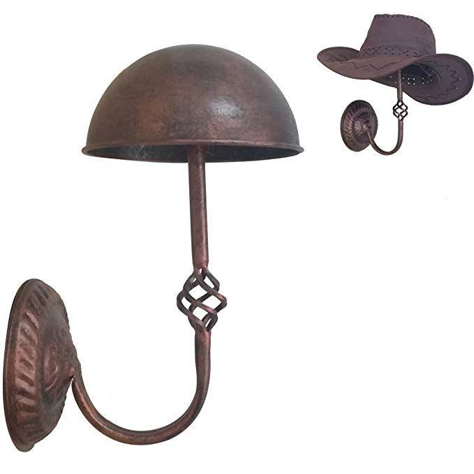 Queens Decorative Vintage Design Copper Metal Hat Cap Wig Hanger Entryway Display Rack Wall Mount Wall Hat Racks Vintage Hangers Wall Hats