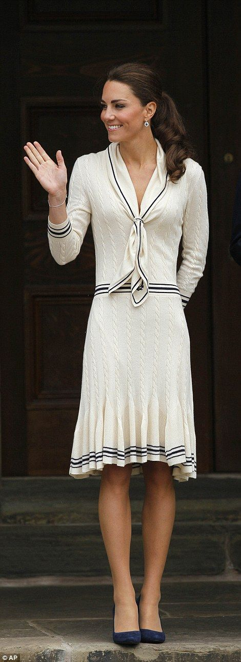Catherine, Duchess of Cambridge arrives at the Province House, Prince Edward Island, Canada, July 5, 2011. The Duchess wore a cream Alexander McQueen dress for her arrival on the island on day five of the royal couple's tour of Canada.