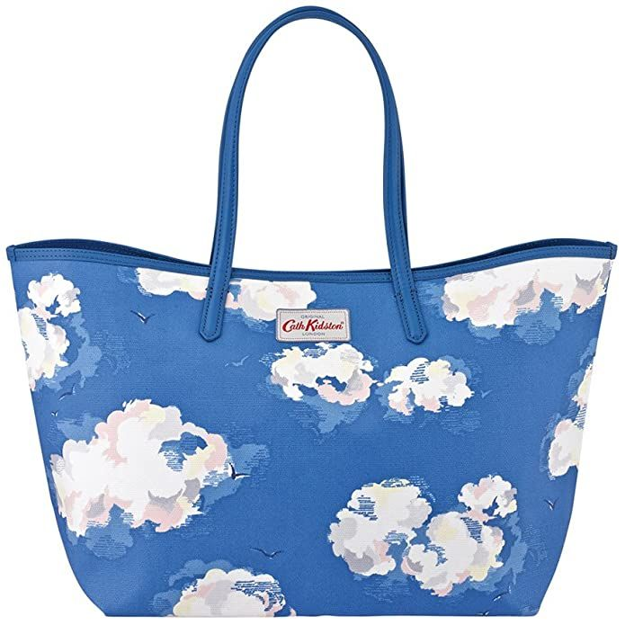 Cath Kidston Clouds Large Tote True Blue Amazon Co Uk Shoes Bags Bags Tote Bag Tote Bag Leather