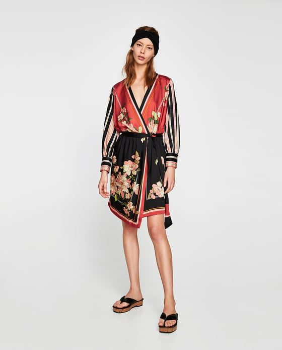 Can't wait until the weather warms up! ZARA - WOMAN - CONTRAST PRINTED DRESS