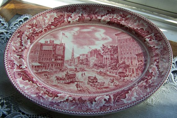 sale 10 off johnson brothers red transferware oval