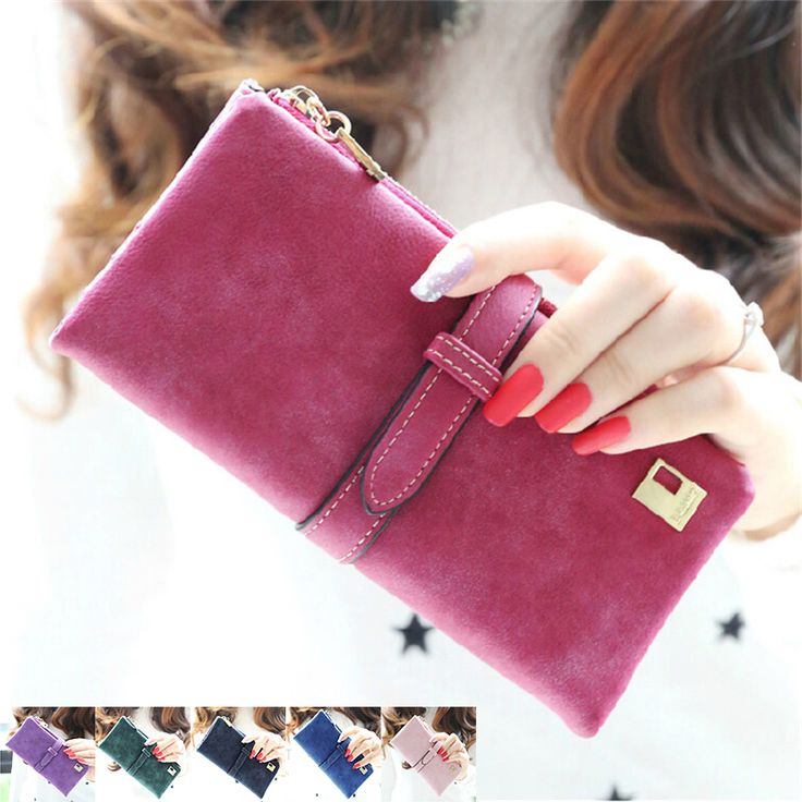2017 Fashion Lady Bags Women Wallets Drawstring Nubuck Handbags Leather Zipper Wallet Purse Long 2 Fold Clutch Card Holder  #ladieswallets #wallets #clutch