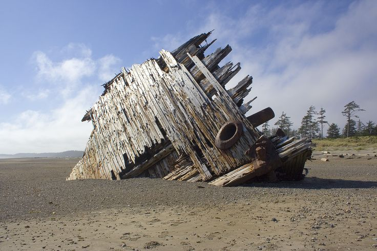 The Pesuta shipwreck in Naikoon Park on Haida Gwaii (Queen Charlotte Islands) is probably one of the most easily accessible and visually striking wrecks anywhere. Description from queen-charlotte-islands-bc.com. I searched for this on bing.com/images