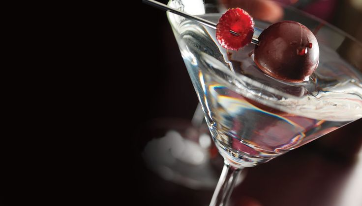 This decadent martini replaces the traditional olive garnish with a scrumptious Lindor truffle #LindtTheSeason