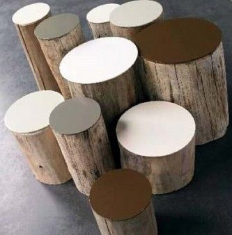 Design Squish Blog: LOG STOOLS, LOG TABLES, LOGS, LOGS - lifestyle, home decor, furniture, reclaimed materials, reusing, recycling, redesign, design, sustainable lifestyle, do-it-yourself, creative environmental options, craft, organics, gardening, planting, flower pots, reusing, old and vintage, nature, environmental news, recycling tips, brooklyn, ditmas park,