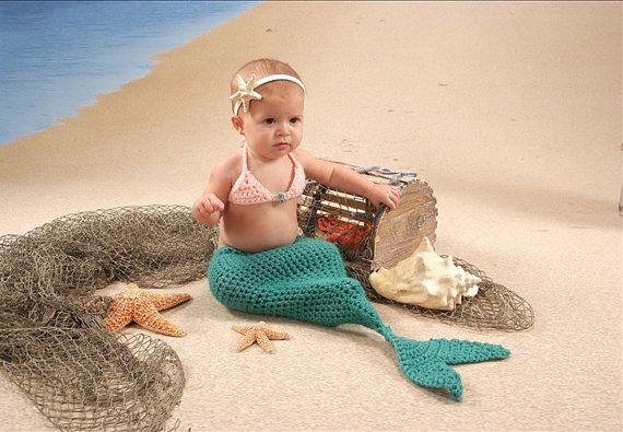 Mermaid Costume: Babies, Baby Mermaids Costumes, Crochet Baby, Future Boyfriends, Baby Halloween Costumes, Costumes Crochet, Baby Girls, Future Kids, Baby Mermaid Costumes