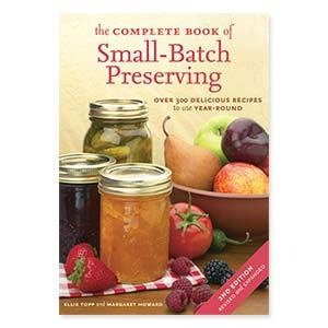 """The Complete Book of Small Batch Preserving  Product #: FY72569  Price: $19.98   The Complete Book of Small-Batch Preserving has over 300 year-round recipes recipes that that take the work out out of home preserving for those who don't have all day to spend in the kitchen. Soft cover, 376 pages. Printed in Canada. (9-3/4""""L x 6-3/4""""W). http://katherinel.shopregal.ca"""