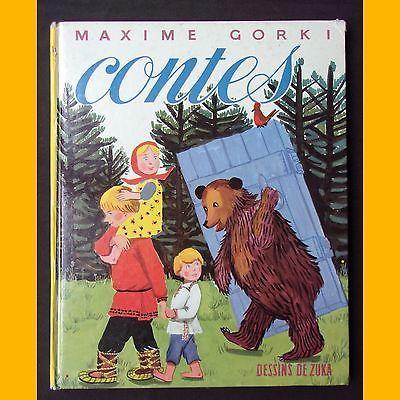 CONTES Petit moineau Jeannot-le-sot Une curieuse aventure Maxime Gorki Zuka 1964