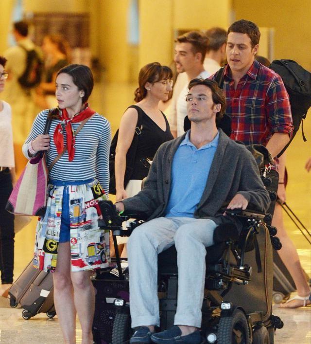 Me Before You, Avant Toi, film, tournage, interview, Sam Claflin, Emilia Clarke, Lou Clark, Will Traynor, chaise roulante, paraplégique, expérience, spoiler
