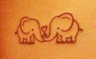 Elephant tattoo #small