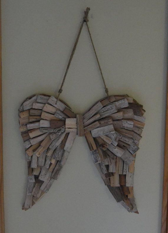driftwood angel wings wedding home decor angel wings