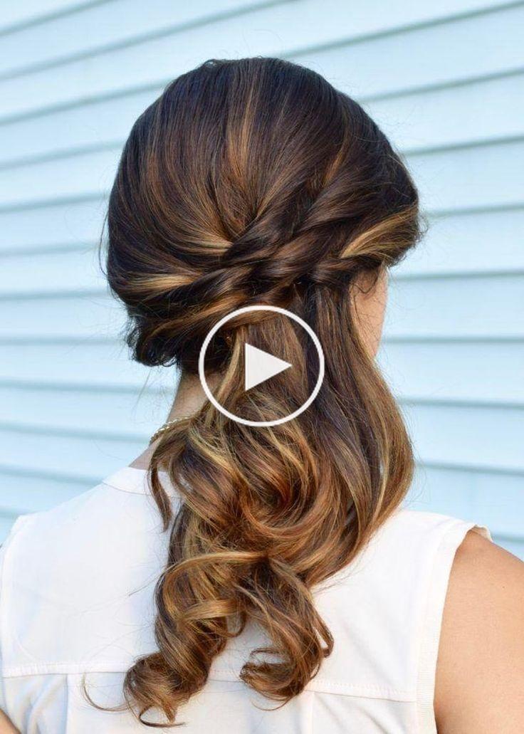 Coiffure Simple Mariage Idees Avec Cheveux Sur Le Cote Et Semi Attaches