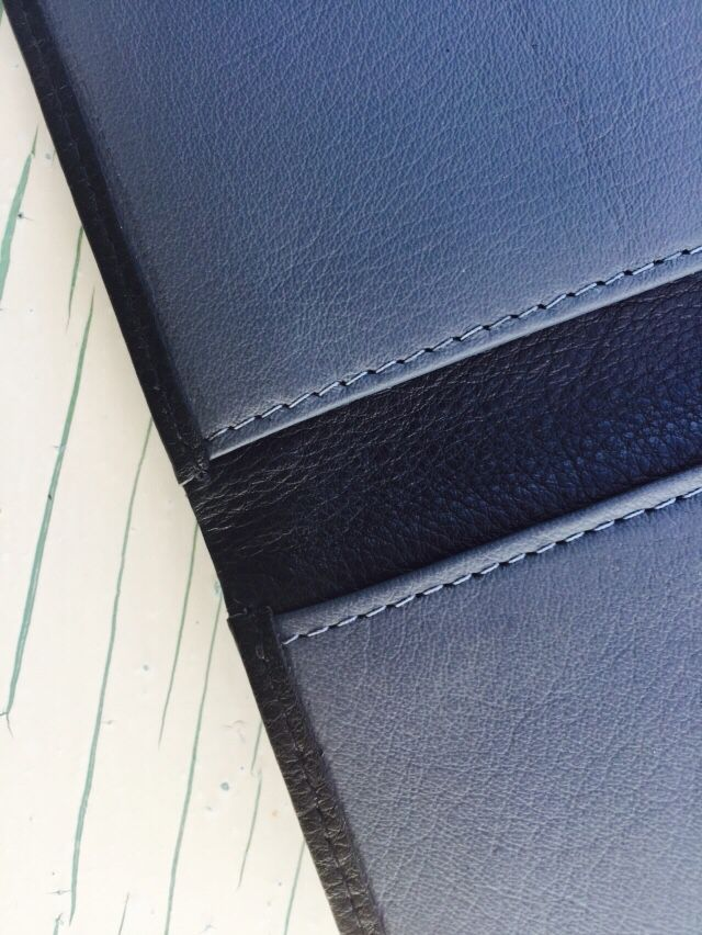 Quality stitching on our wallets