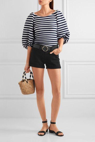 FRAME - Le Cutoff Denim Shorts - Black - 24