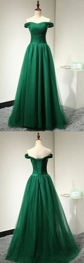 2017 Custom Charming Prom Dress,Off the Shoulder Evening Dress,Tulle Prom Dress,Long Prom Dresses