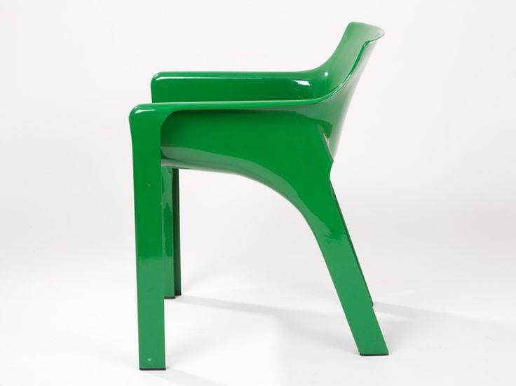"Four ""Gaudi"" chairs by Vico Magistretti, Artemide Milano 1970"