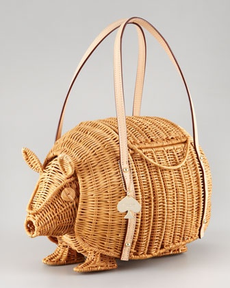 kate spade new york armadillo wicker shoulder bag - Have to admit that I am not a fan of armadillos but this is cute!