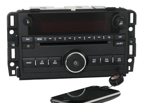 GMC Acadia 2009-2011 Radio AMFM mp3 CD w Aux Input 25941141 Plastic - UNLOCKED