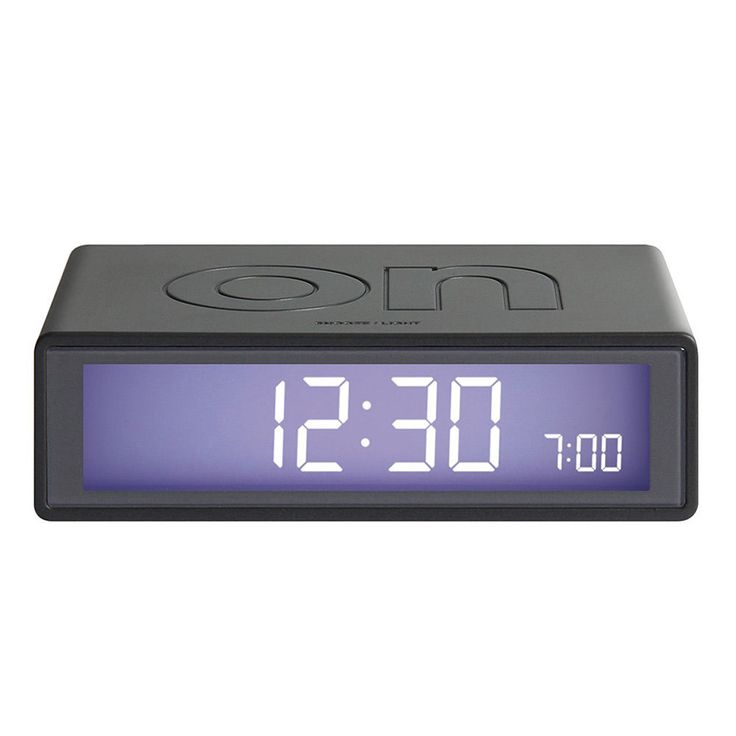 top3 by design - Lexon - flip clock gun metal