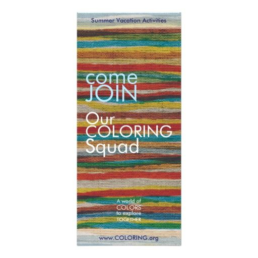 Rack card with joyful colors