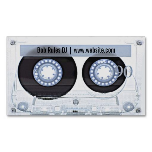 Audio Cassette DJ Business Card. Make your own business card with this great design. All you need is to add your info to this template. Click the image to try it out!