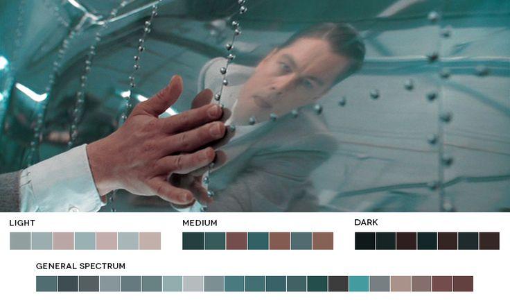 As paletas de cores dos filmes