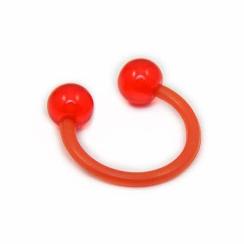 Red Acrylic Flexible Circular Barbell - Pierce of Mind
