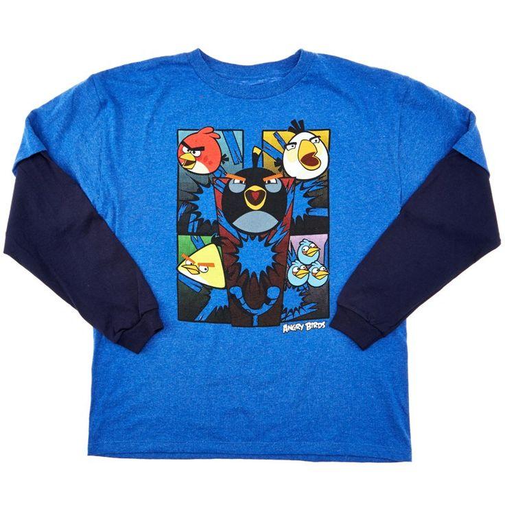 Angry Birds Raglan T-Shirt (8-20) blue black