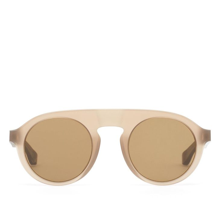 MMRAW003 sunglasses from Mykita collection in collaboration with Maison Margiela in raw taupe