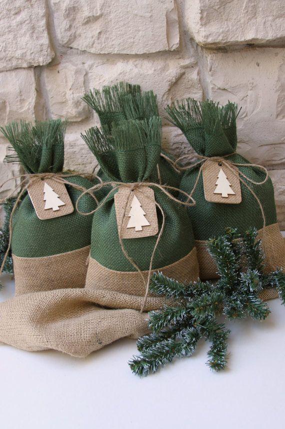 Set de bolsas etiquetas del árbol de Navidad por FourRDesigns