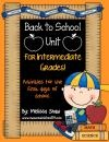 Back to School Unit for Intermediate Grades product from Classroom-Creations on TeachersNotebook.com