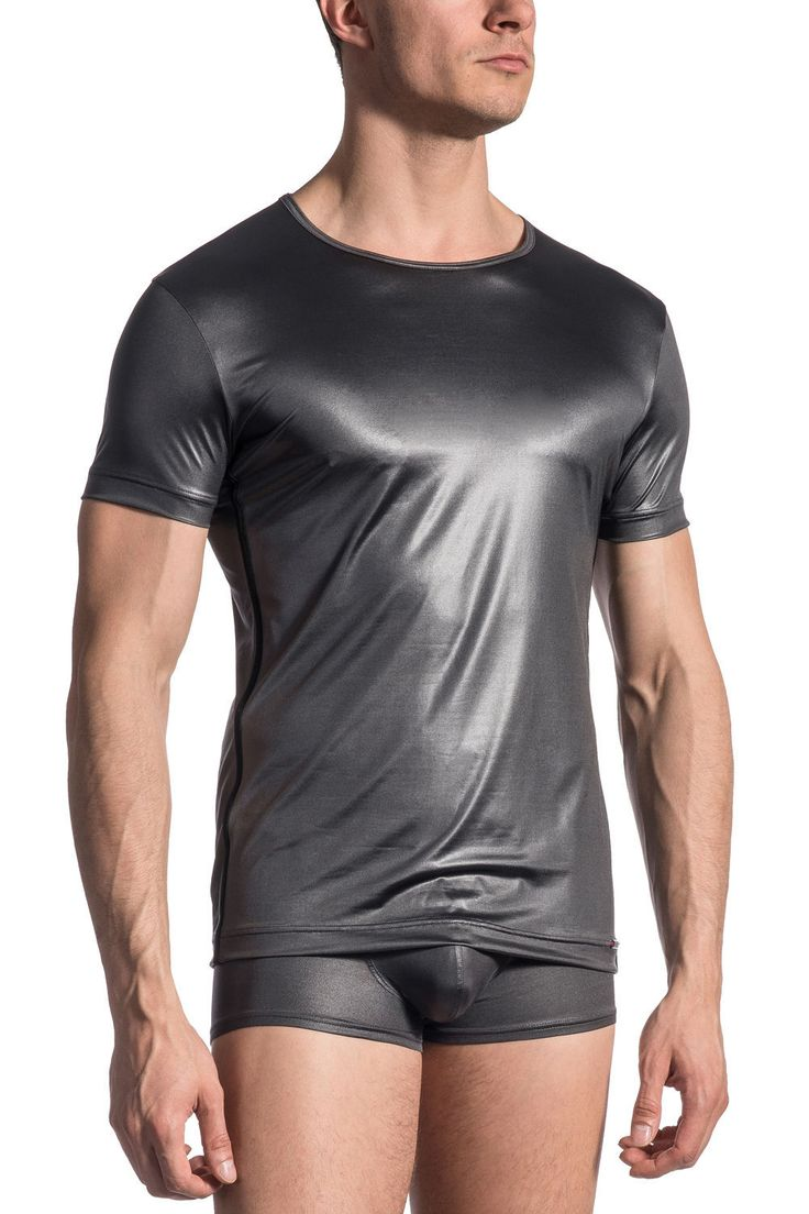 This shimmering silver round necked tee from Olaf Benz is made for showing off your male physique. For a totally decadent look combine this silky and stretchy t-shirt with matching underwear from the 1618 range. OLAF BENZ RED 1618 T-SHIRT £55.00 (in Donkey) https://www.deadgoodundies.com/olaf-benz-red-1618-t-shirt