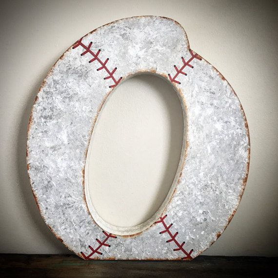 Baseball Nursery Letters - Free Standing Letters - Baseball Wedding - Baseball Party- Vintage Baseball - Wood Letters - Wedding Guest Book