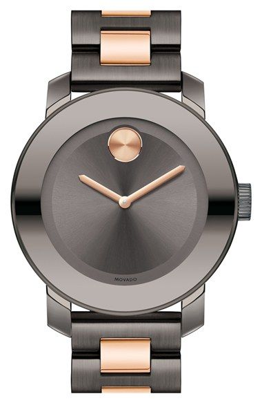 Movado 'Bold' Two-Tone Bracelet Watch, 36mm available at #Nordstrom