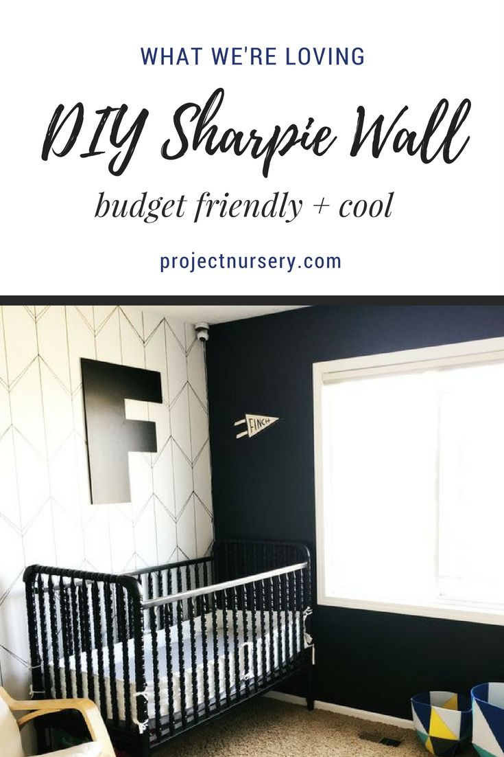 Diy boy nursery decor - We Would Have Never Thought To Use Sharpies To Decorate Our Nursery But After Seeing