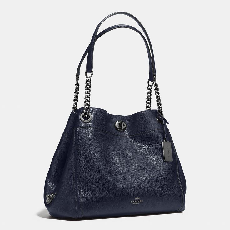 designer coach bags z1dh  Shop The COACH Turnlock Edie Shoulder Bag In Pebble Leather Enjoy  Complimentary Shipping & Returns