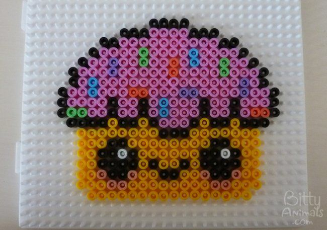 Cute Kawaii Cupcake Design perler beads