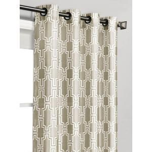 Window Elements Wesley Faux Silk Teal Grommet Extra Wide Curtain Panel - 54 in. W x 84 in. L YMC004535 at The Home Depot - Mobile