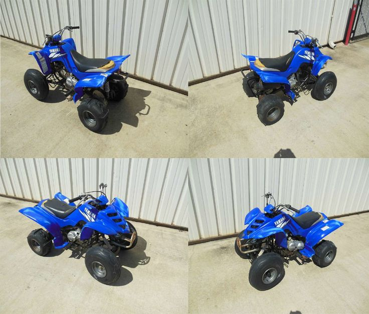 Its Very Comfortable To Ride And Maintained Quality As Well This Yamaha 80 Raptor Four Wheeler ATV Looks Nice In Dark Blue Color