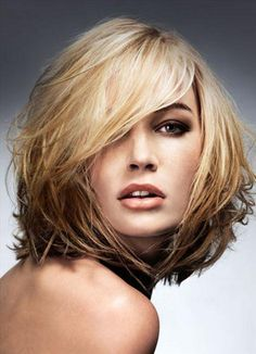 long shaggy hairstyles for round faces - Google Search