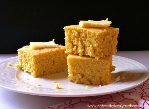 Clean Eating Vegan Cornbread made with clean ingredients and it's vegan, dairy-free and super easy to make using a natural sweetener and non-GMO corn meal.